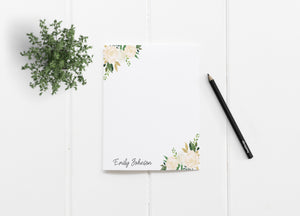 """Audrey Roses Minimalist"" Personalized Stationery - Saylor Design Co"