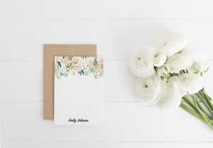 """Audrey Roses"" Personalized Stationery - Saylor Design Co"
