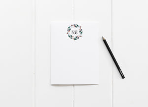Christmas Roses Monogrammed Stationery - Saylor Design Co