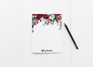 """Christmas Roses"" Personalized Stationery - Saylor Design Co"