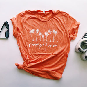 """Paradise Found"" Triblend T Shirt - Saylor Design Co"