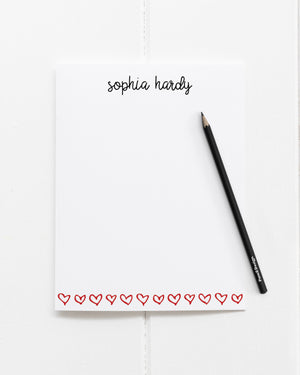 """Open Hearts"" Personalized Stationery - Saylor Design Co"