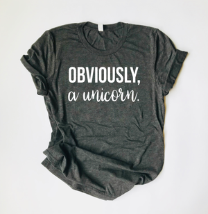 """Obviously, A Unicorn"" Triblend T Shirt - Saylor Design Co"