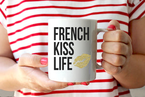 """French Kiss Life"" Mug - Saylor Design Co"