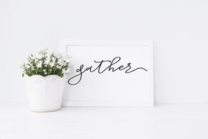 """Gather"" Print - Saylor Design Co"
