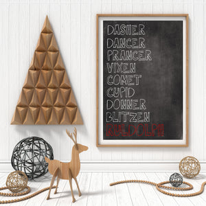 """Reindeer Names"" Print - Saylor Design Co"