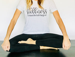 """Stillness Is Where The Truth Hangs Out"" Triblend T Shirt - Saylor Design Co"