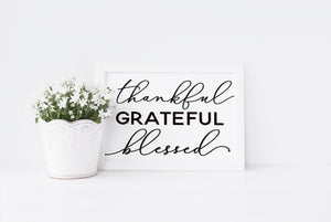 """Thankful Grateful Blessed"" Print - Saylor Design Co"
