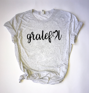 """Grateful Heart"" Triblend T Shirt - Saylor Design Co"