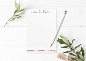 """Open Hearts"" Personalized Notepad - Saylor Design Co"