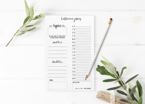 """My Daily Fix"" Personalized Organizer Notepad - Saylor Design Co"
