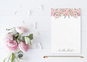 """Fairy Tale Roses"" Personalized Notepad - Saylor Design Co"