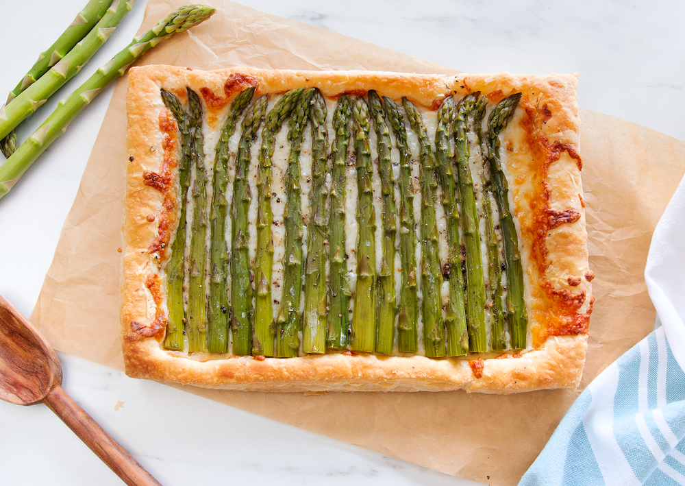 Asparagus & Parmesan Puff Pastry Tart