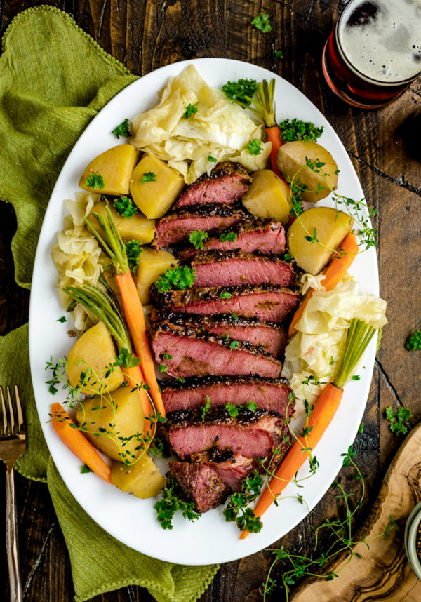 Host the Toast Slow Cooker Corned Beef with Sweet Mustard Glaze