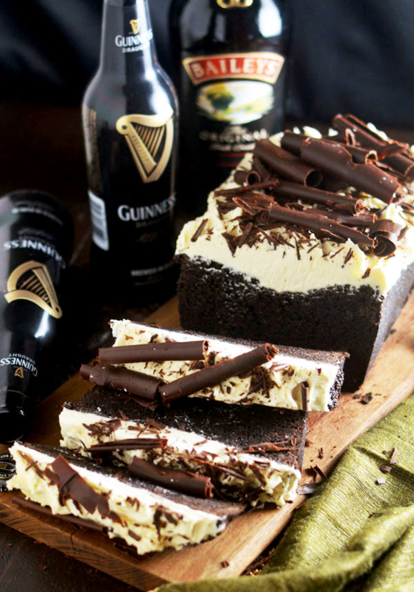 Malted Guinness Chocolate Cake with Bailey's Frosting