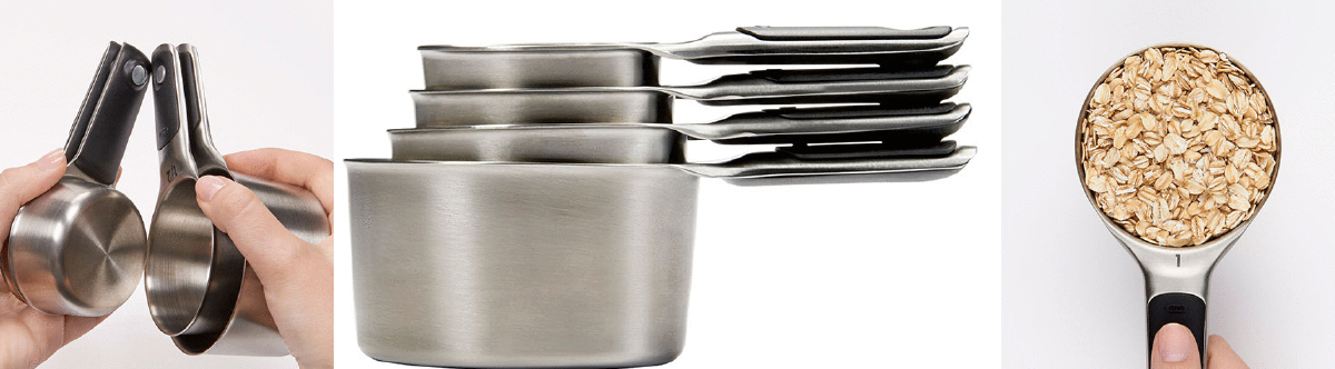 OXO Stainless Steel Magnetic Measuring Cup Set