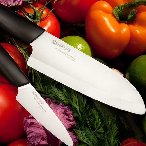"Kyocera 5.5"" Santoku & 3"" Parer Ceramic Knife Set"