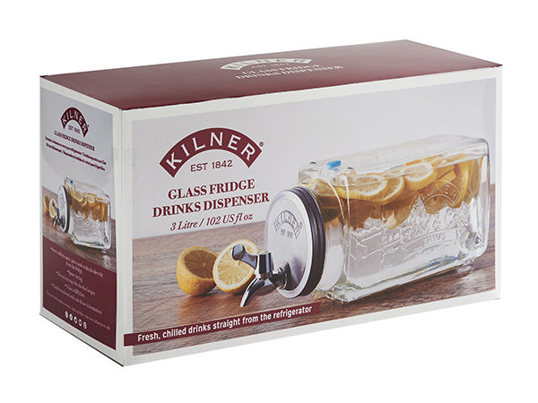 Kilner Glass Refrigerator Beverage Dispenser
