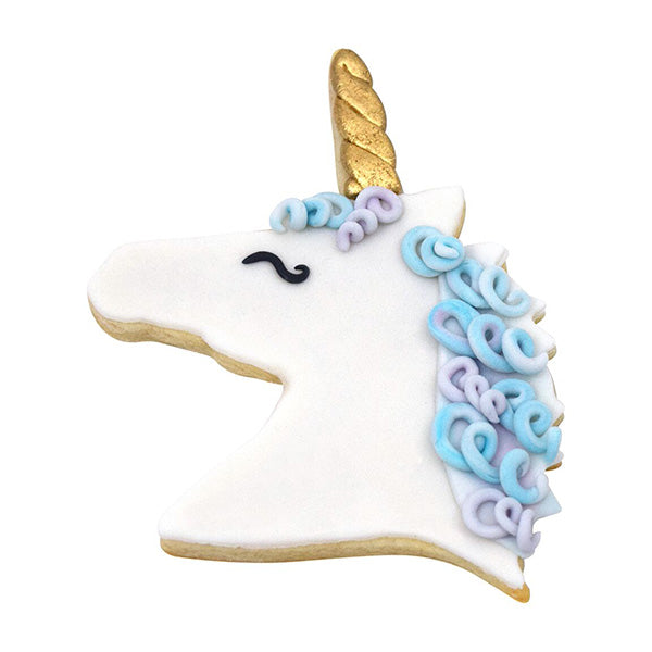 Polyresin Coated Cookie Cutter- Pink Unicorn Head