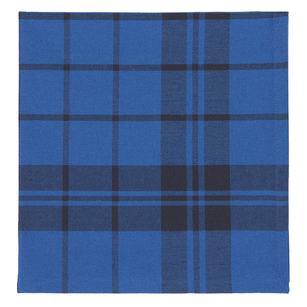 Set of 4 Indigo Second Spin Plaid Napkins