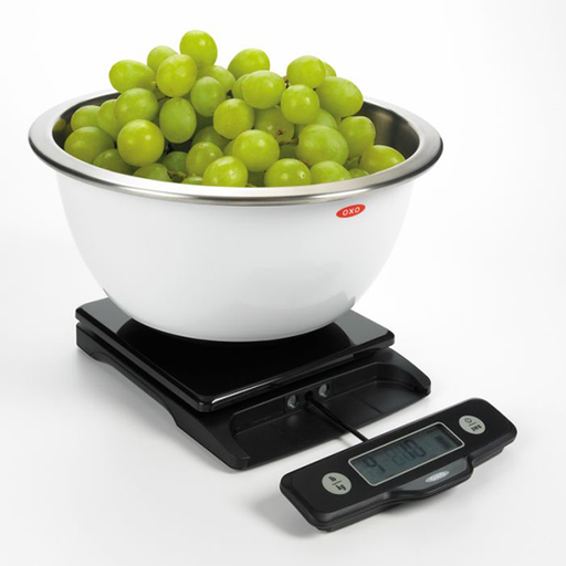 OXO 5 LB Black Digital Food Scale with Pull-Out Display