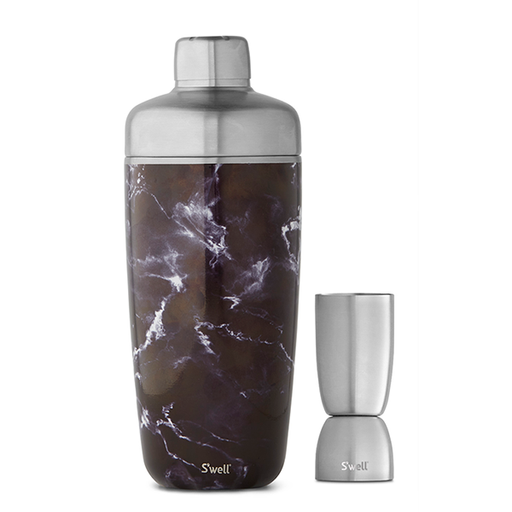 S'well Black Marble Cocktail Shaker Set