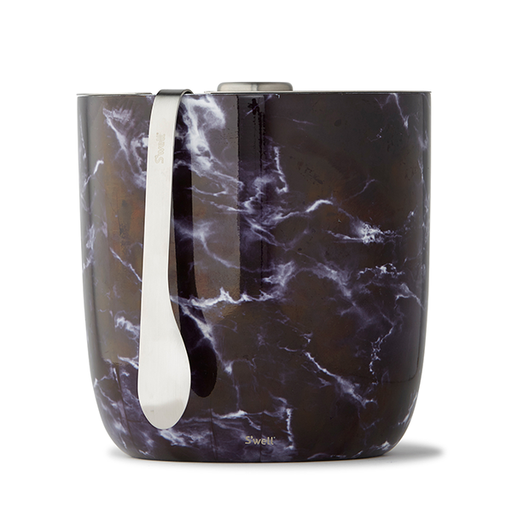 S'well Black Marble Ice Bucket & Tongs