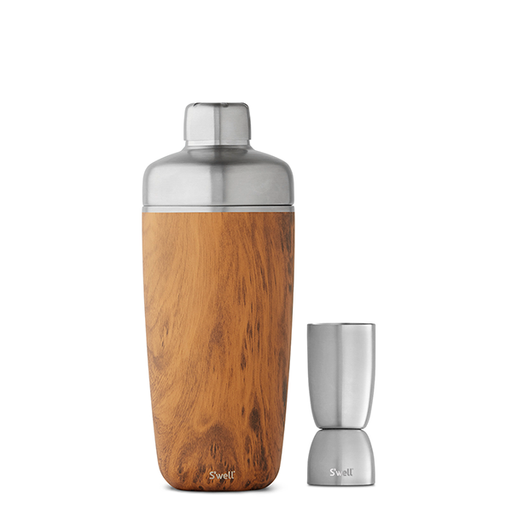 S'well Teakwood Cocktail Shaker Set