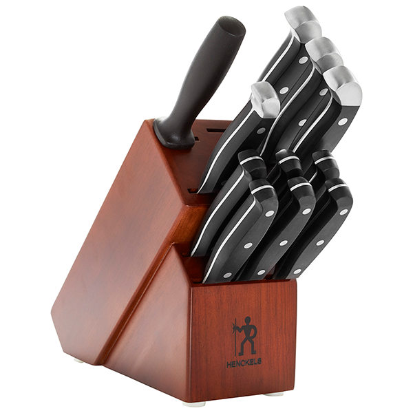 Henckels International Statement 12 Piece Knife Set with Brown Block