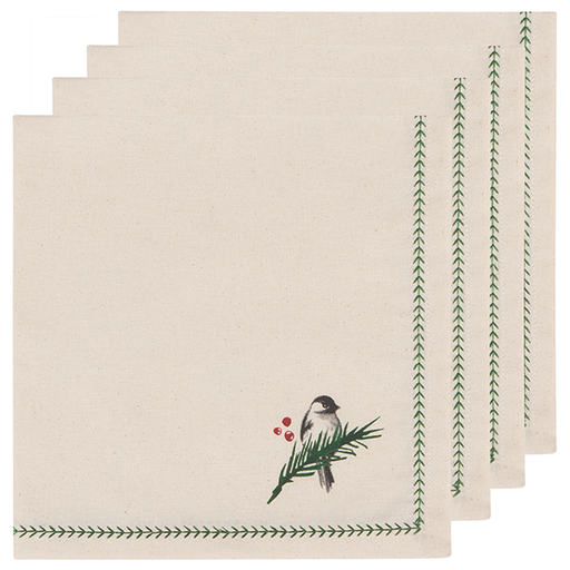 Now Designs Set of 4 Forest Birds Napkins