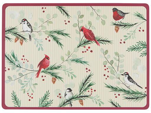 Now Designs Set of 4 Forrest Birds Placemats