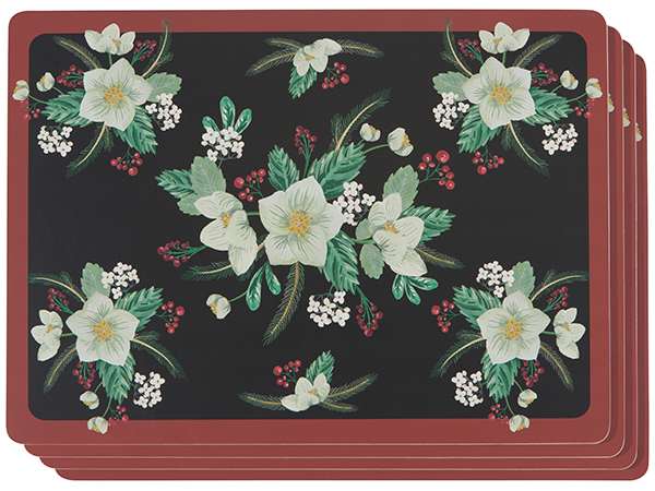 Now Designs Set of 4 Winterblossom Placemats