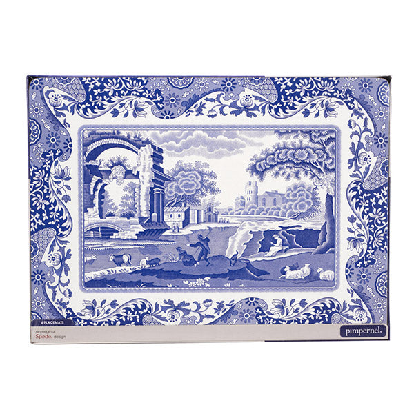 Portmeirion Set of 4 Blue Italian Placemats