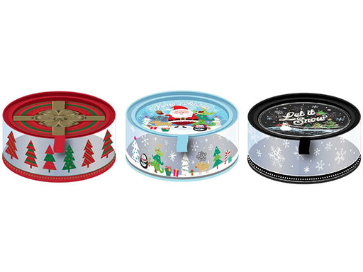 Tin Box Company Assorted Clear Cookie Tin