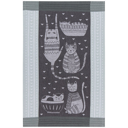 Now Designs Purr Party Jacquard Towel
