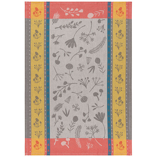 Golden Bloom Jacquard Towel
