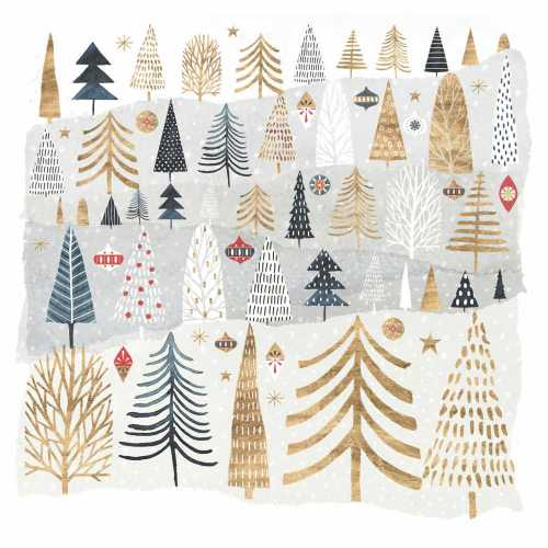 Mountain Forest Paper Beverage Napkins