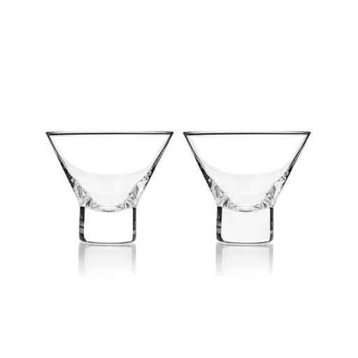 Set of 2 Raye Stemless Martini Glasses