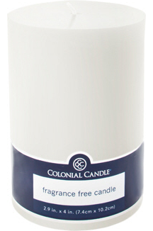 Colonial Candle Pillar Candle White