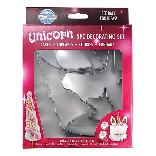 R&M 5 Piece Unicorn Decorating Set