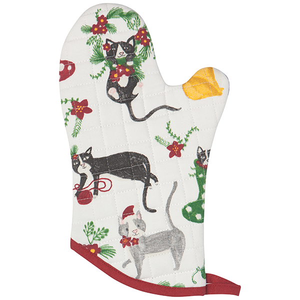 Now Designs Meowy Christmas Oven Mitt