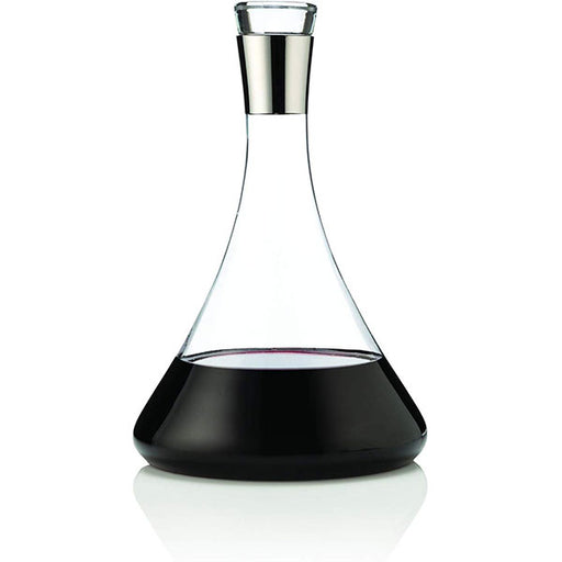 Viski Chrome and Glass Wine Decanter