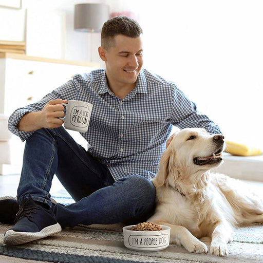 Fred Dog Person Mug & Bowl Set