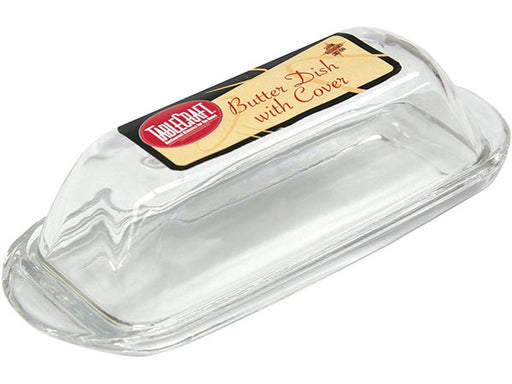Tablecraft Glass Butter Dish