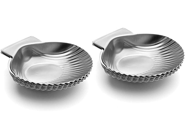 Set of 12 Stainless Steel Clam Shell Bakers