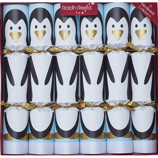 Robin Reed 6 Piece Racing Penguin Christmas Crackers