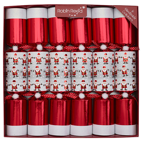 Robin Reed 6 Piece Racing Santa Christmas Crackers