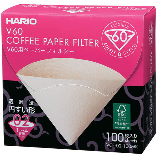 Hario V60 02 Dripper Filters- 100 Sheets