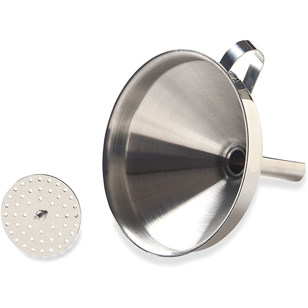 Stainless Steel Funnel with Strainer
