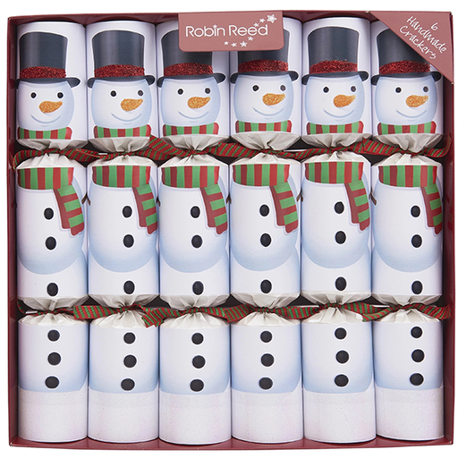 Robin Reed 6 pc Racing Snowmen Christmas Crackers